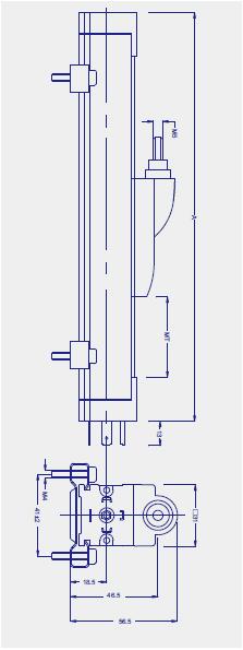 KTF滑块式直线位移传感器(电子尺)图纸