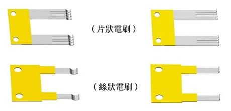 电阻式位移传感器结构示意图